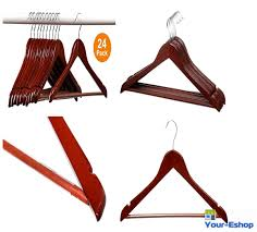 clothes wooden hangers suit coat pants closet mahogany wood hanger vintage lot 1 of 5free see more
