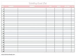 wedding list spreadsheet free printable to do list template guest spreadsheet wedding excel