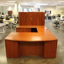office furniture desk vintage chocolate varnished. Bow Front Veneer Cherry U-Shape (LH) Desk By Paoli Office Furniture Vintage Chocolate Varnished