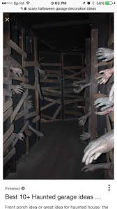 great idea for haunted house. the real trick is to have a false wall that  someone stands behind, reaching an arm through. Grab at (dont touch!(  guests as ...