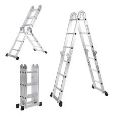 Folding Staircase Wolf 11 In 1 Aluminium 337m Multi Purpose Folding Ladder With