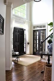 entryway black doors