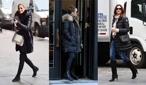 黒のダウンコートがこなれて見える海外セレブの上品着こなし4選