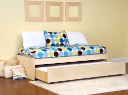 twin platform bed with trundle.  With Wood Platform Bed With Trundle To Twin With