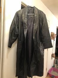 large petite comint leather trench coat