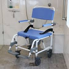 roll in shower commode chair