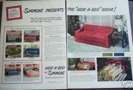simmons hide a bed. simmons hide-a-bed retro decor original (1947) hide a bed