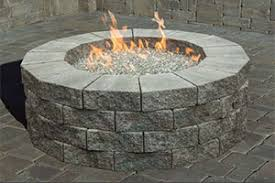 paver patio with gas fire pit. Simple Pit PrePackaged Cambridge Pyzique Round Gas Fire Pit Kit And Paver Patio With N