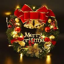 Weihnachtskranz Coxeer Türkranz Weihnachten Weihnachtsdeko Kranz Weihnachtsgirlande Mit Kugeln Handarbeit Weihnachten Garland Deko Kranz