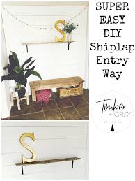 Timber And Gray Design Co Super Easy Diy Shiplap Wall Tutorial Timber Gray Design Co