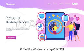 Professional Babysitting Services Babysitting Services Concept Landing Page