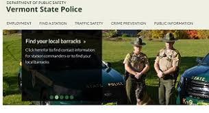 Public Information Vermont State Police