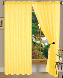 com dpnamron linda sheer voile panel curtain d 55 x 84 inches bright yellow home kitchen
