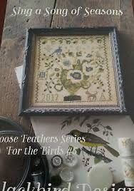 Blackbird Designs Cross Stitch Charts Pleasure Of The Fleeting Year Cross Stitch Chart Blackbird Designs Lf 6 Ebay