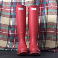 hunter boots size 6 hunter shoes red matte boots rain boots size 5 6 poshmark