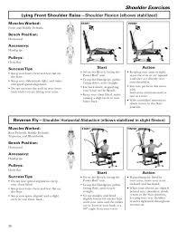 shoulder exercises bowflex power pro workout chart bowflex power pro exercises chart