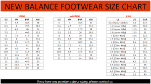 New Balance Shoe Size Chart Reebok Shoe Size Chart Cm Best Picture Of Chart Anyimage Org