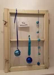 Vintage Fenster Weihnachten Blau Türkis In 6800