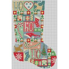 Cross Stitch Stocking Patterns Inspiration Christmas Stocking Vintage Patchwork Cross Stitch Pattern Lucie