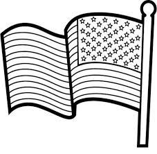Print in color on any type of paper. Printable American Flag Coloring Page Coloring Home