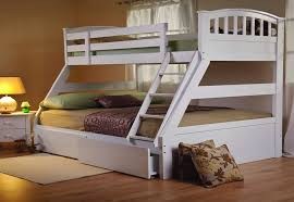 white bunk bed with stairs. Modren Bed Sweet Dreams Epsom White Triple Bunk Bed Solid Wood Underbed Drawers For With Stairs