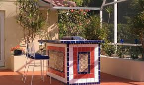 mexican tile in the bbq area mexican home decor projects gallery