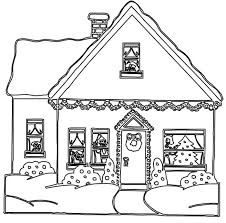 christmas house coloring pages.  Christmas Free Printable House Coloring Pages For Kids Intended Christmas