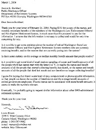 heres the 2nd freedom of information request letter i sent to the washington state department of retirement systems requesting retirement system letter of retirement