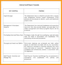 Template Audit Report Sample Internal Audit Report Template Audit Report Template Internal