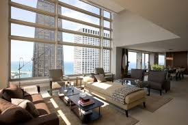 contemporary apartment furniture. chicago penthouses contemporary penthouse apartment in with custom furniture and