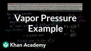 Vapor Pressure Example Video Khan Academy