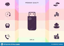 Flash Memory Design Usb Flash Memory Drive Icon Graphic Elements For Your