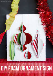Christmas Ornament Foam Sign by Love The Day