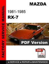 rx7 manual mazda rx7 rx 7 1981 1982 1983 1984 1985 fb service repair workshop fsm manual