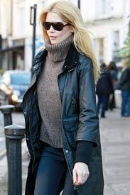 How To Wear A Barbour Jacket Claudia Schiffer Barbour Wax Jacket Country Style Wax Jacket