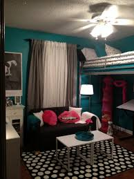 Loft Teenage Bedroom Teen Room Tween Room Bedroom Idea Loft Bed Black And White