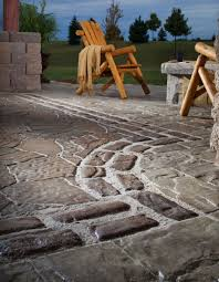 patio paver designs ideas. Combining Different Textures Patio Paver Designs Ideas