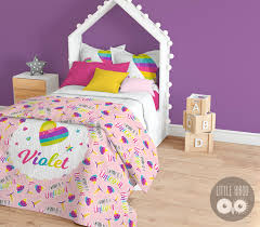 personalized unicorn bedding set