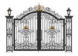 china decorative metal garden gates