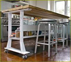 Fabulous Kitchen Island Wheels On Incredible With Seating Regard To Remodel  9 ...