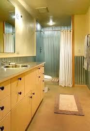 corrugated metal bathroom walls corrugated metal shower corrugated metal shower bathroom contemporary with modern round cabinet corrugated metal