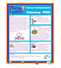 Child Care Newsletter Ideas 10 Preschool Newsletter Templates Free