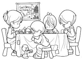 Precious Moments Manger Scene Coloring Pages Christmas Nativity
