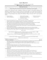 business cv sample