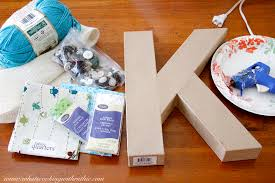 Yarn Letters Gift Idea - Cooking With Ruthie