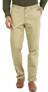 Wills Lifestyle Trousers Size Chart Wills Lifestyle Slim Fit Men Beige Trousers