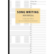 Blank Sheet Of Music Song Writing Journal Blank Sheet Music 100 Pages For Lyrics And Music Writing Your Own Lyrics Melodies And Chords For Musicians Notebook For