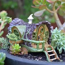 fiddlehead gypsy wagon fairy cottage home garden craft décor