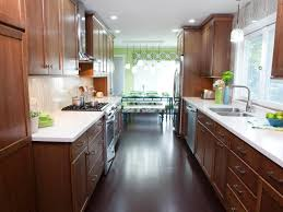 image of narrow galley kitchen designs