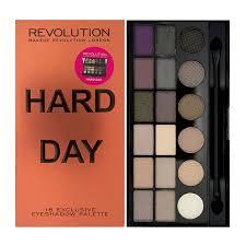 makeup revolution salvation palette hard day